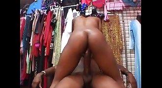 www.NaijaErotica.com - Captured Thug Hot Fuck at The Clothing Store