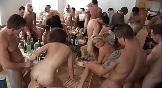 Beautiful Czech Girls Giving a Head at Home Soiree