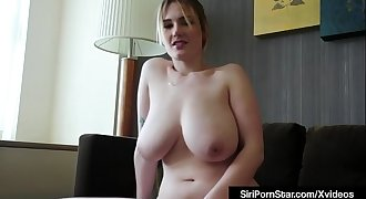 Big-titted Blonde Beauty Siri Pornstar Masturbates In Hotel Room!