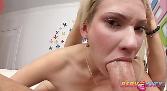 PervCity Mike Adriano Swallowed by Blonde Fuckslut