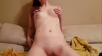 Little Red Panty roleplay - Skype flashing with you after shower