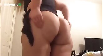 her ass is so BIG, and her fart so wet