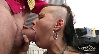 Tattooed German Unexperienced fucked by big dick