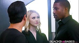 Blonde babe Lily Rader fuks a huge black dick