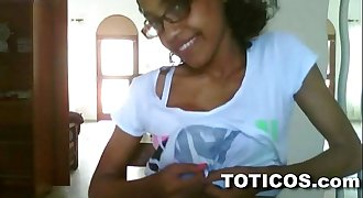 Toticos.com - fine ass dominican lady with glasses gets naked on live webcam