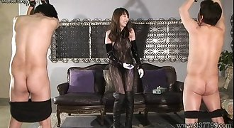 CFNM Japanese Femdom play with a penis