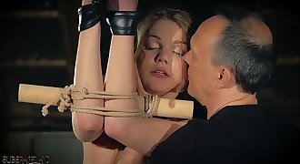 Teen sub in subordination does what the master says and gets grimaced