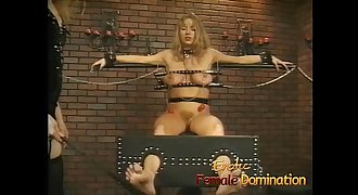 Big tits chick is a perfect subject for some painful female domination-6