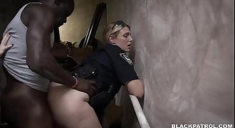 Suspect fucked in stairway