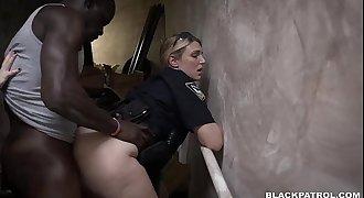 Suspect fucked in stairway