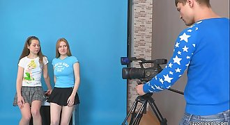 JizzOnTeens.com - Lora and Jazzy tempt cameraman
