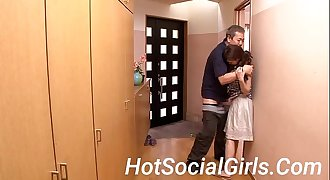 HotSocialGirls.Com - Old Man Force Chesty Japanese Housewife to Blowjob