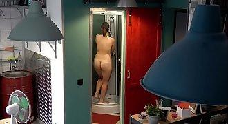 Czech chunky teen - Hidden webcam in the shower
