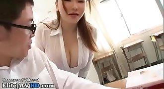 Japanese Milf teacher titsfuck with lucky student - Full at Elitejavhd.com