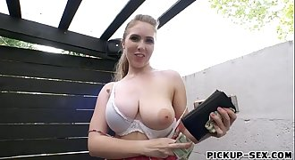 Eurobabe Lena Paul gets fucked for money