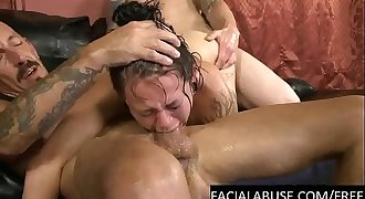 Hardcore BJ and assfuck for tattoed slut