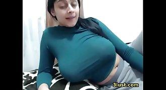 Blue Tight Shirt - Saggy Tits