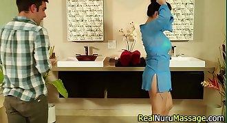 Booty masseuse slammed