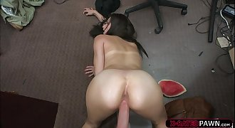 Cock swallower Alexis Deen gets fucked hard by Shawns huge shaft