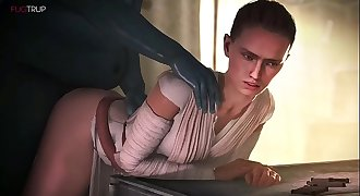 Star Wars - Rey (Daisy Ridley) Animated Compilation